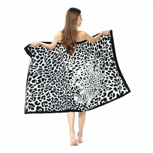 Пляжное полотенце Leopard 100х180 см, микрофибра  в  Интернет-магазин Zelenaya Vorona™ 1