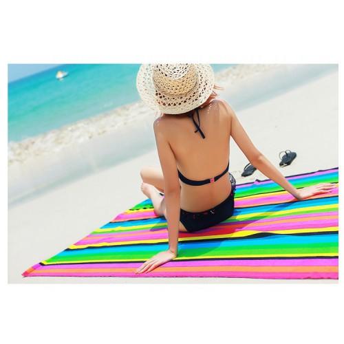 Пляжное полотенце Rainbow 100х180 см, микрофибра  в  Интернет-магазин Zelenaya Vorona™ 2