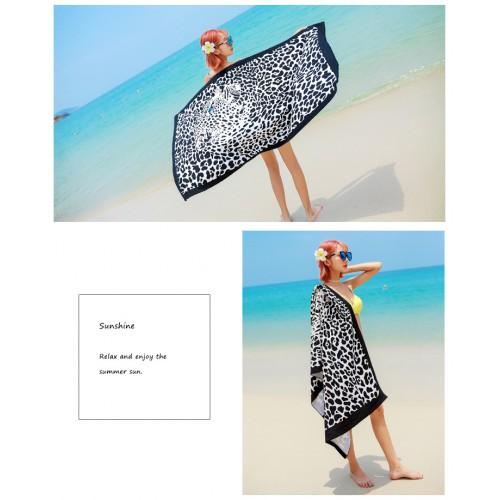 Пляжное полотенце Leopard 100х180 см, микрофибра  в  Интернет-магазин Zelenaya Vorona™ 4