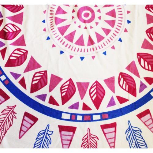 Пляжное полотенце Перья из микрофибры, круглое  в  Интернет-магазин Zelenaya Vorona™ 3