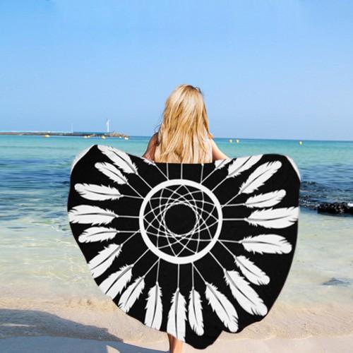 Пляжное полотенце Ловец снов из микрофибры, круглое  в  Интернет-магазин Zelenaya Vorona™ 1