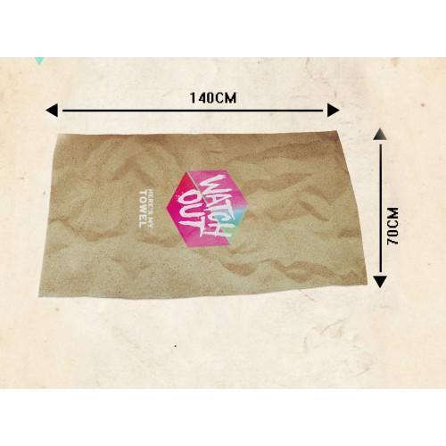 Пляжное полотенце Watch Оut из микрофибры 140х70 см  в  Интернет-магазин Zelenaya Vorona™ 3