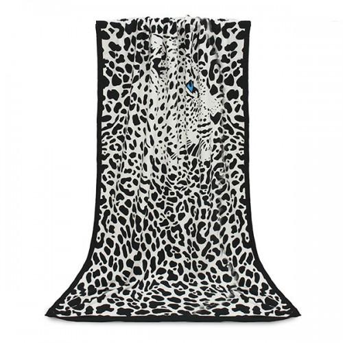 Покупка  Пляжное полотенце Leopard 100х180 см, микрофибра в  Интернет-магазин Zelenaya Vorona™