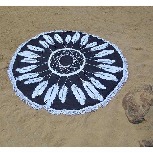 Пляжное полотенце Ловец снов из микрофибры, круглое  в  Интернет-магазин Zelenaya Vorona™ 3