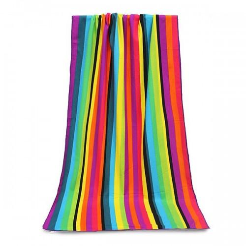 Покупка  Пляжное полотенце Rainbow 100х180 см, микрофибра в  Интернет-магазин Zelenaya Vorona™