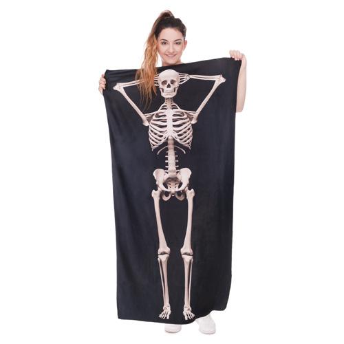 Покупка  Пляжное полотенце Skeleton из микрофибры 140х70 см в  Интернет-магазин Zelenaya Vorona™