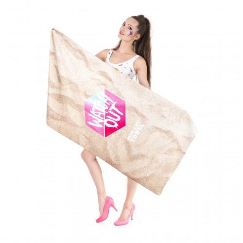 Покупка  Пляжное полотенце Watch Оut из микрофибры 140х70 см в  Интернет-магазин Zelenaya Vorona™
