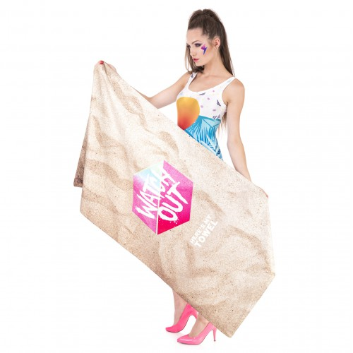 Пляжное полотенце Watch Оut из микрофибры 140х70 см  в  Интернет-магазин Zelenaya Vorona™ 1