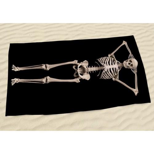 Пляжное полотенце Skeleton из микрофибры 140х70 см  в  Интернет-магазин Zelenaya Vorona™ 2