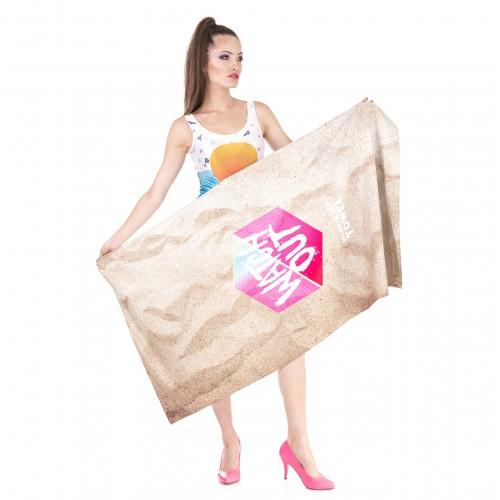 Пляжное полотенце Watch Оut из микрофибры 140х70 см  в  Интернет-магазин Zelenaya Vorona™ 2