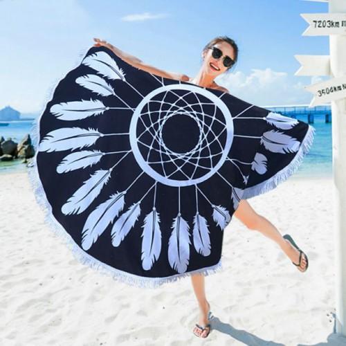 Пляжное полотенце Ловец снов из микрофибры, круглое  в  Интернет-магазин Zelenaya Vorona™ 2