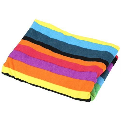 Пляжное полотенце Rainbow 100х180 см, микрофибра  в  Интернет-магазин Zelenaya Vorona™ 1