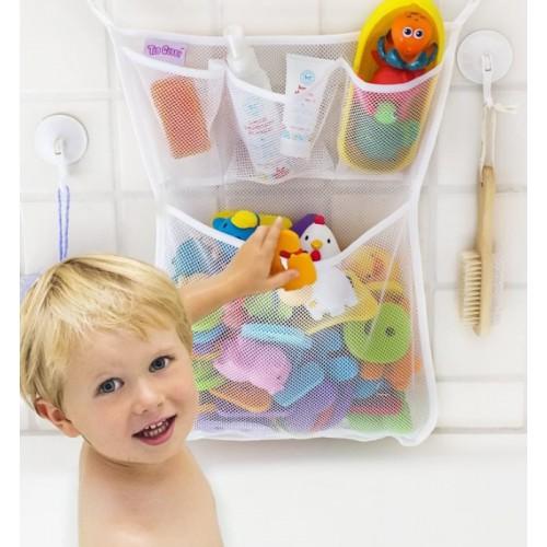 Покупка  Органайзер для детских игрушек Toys bag Large на присосках в ванную в  Интернет-магазин Zelenaya Vorona™