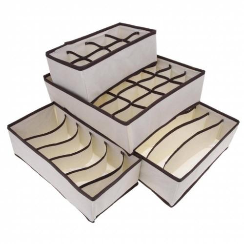 Набор органайзеров для белья 4 шт. Бежевый   в  Интернет-магазин Zelenaya Vorona™ 4