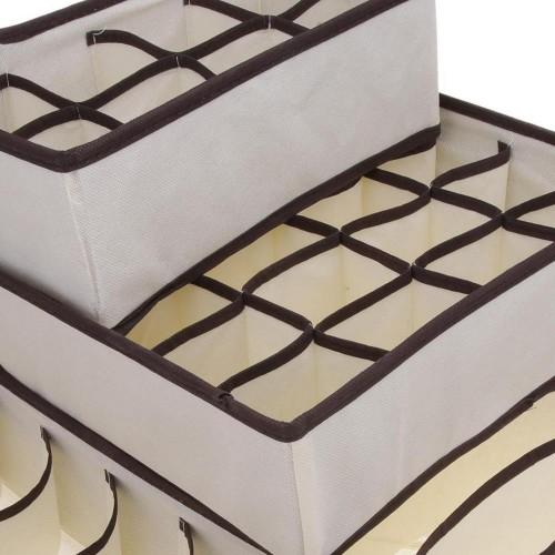 Набор органайзеров для белья 4 шт. Бежевый   в  Интернет-магазин Zelenaya Vorona™ 5