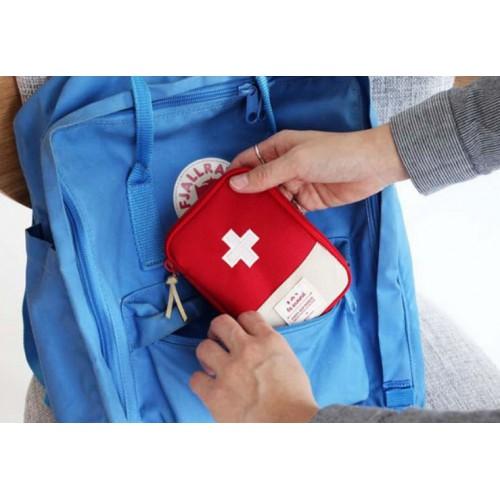 Мини аптечка органайзер для путешествий. Синяя  в  Интернет-магазин Zelenaya Vorona™ 1