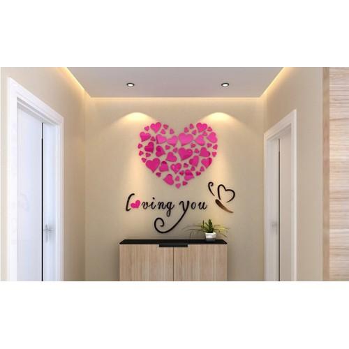 """Акриловая 3D наклейка """"Loving You"""" красная роза 60х60см  в  Интернет-магазин Zelenaya Vorona™ 2"""