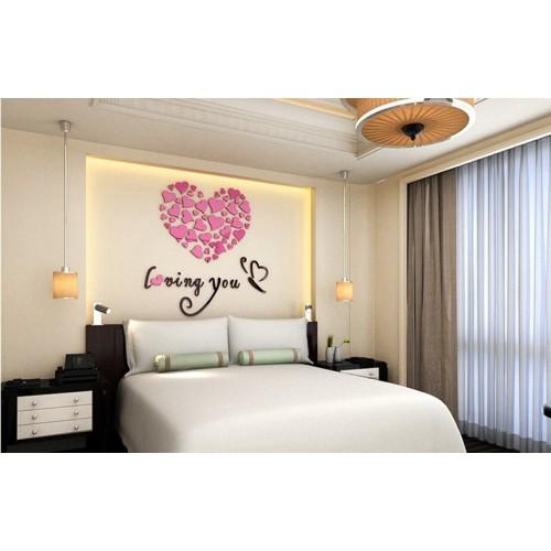 """Акриловая 3D наклейка """"Loving You"""" светло-фиолетовый 60х60см  в  Интернет-магазин Zelenaya Vorona™ 3"""