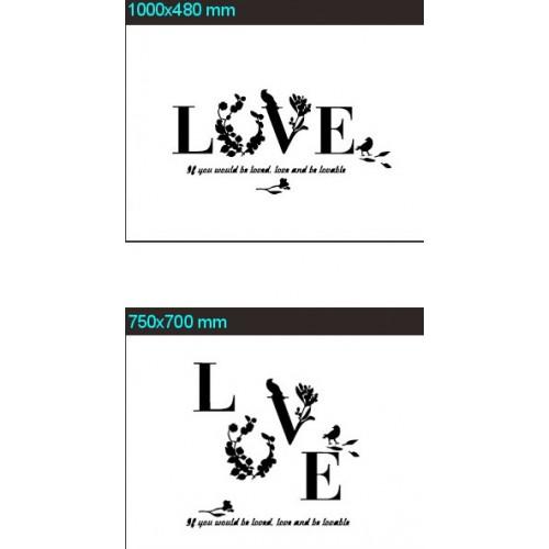 """Акриловая 3D наклейка """"Love"""" красный  в  Интернет-магазин Zelenaya Vorona™ 6"""