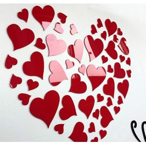 """Акриловая 3D наклейка """"Loving You"""" красный 40х40см  в  Интернет-магазин Zelenaya Vorona 5"""