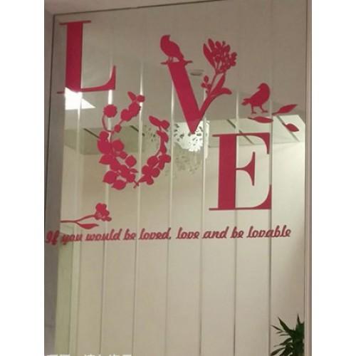 """Акриловая 3D наклейка """"Love"""" красный  в  Интернет-магазин Zelenaya Vorona™ 3"""