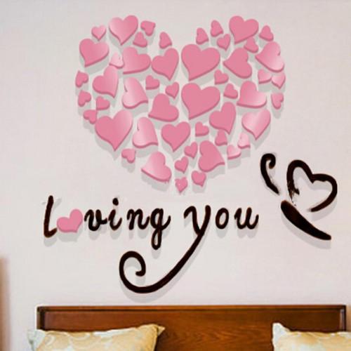 """Акриловая 3D наклейка """"Loving You"""" светло-фиолетовый 60х60см  в  Интернет-магазин Zelenaya Vorona™ 2"""