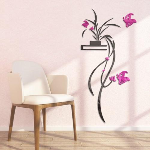 """Акриловая 3D наклейка """"Flower"""" красная роза  в  Интернет-магазин Zelenaya Vorona™ 1"""