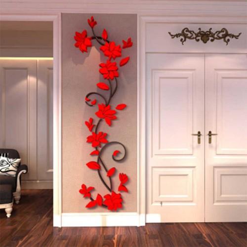 """Покупка  Акриловая 3D наклейка """"Liana"""" красный в  Интернет-магазин Zelenaya Vorona™"""