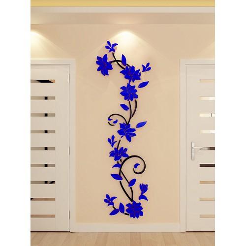 """Акриловая 3D наклейка """"Liana"""" темно-синий  в  Интернет-магазин Zelenaya Vorona™ 1"""