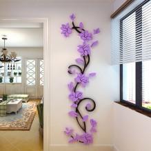 """Акриловая 3D наклейка """"Liana"""" светло-фиолетовый"""