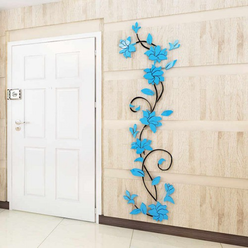 """Покупка  Акриловая 3D наклейка """"Liana"""" светло-голубой в  Интернет-магазин Zelenaya Vorona™"""