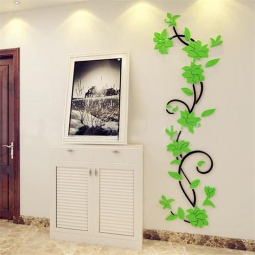 """Покупка  Акриловая 3D наклейка """"Liana"""" светло-зеленый в  Интернет-магазин Zelenaya Vorona™"""