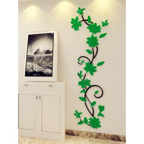 """Покупка  Акриловая 3D наклейка """"Liana"""" темно-зеленый в  Интернет-магазин Zelenaya Vorona™"""