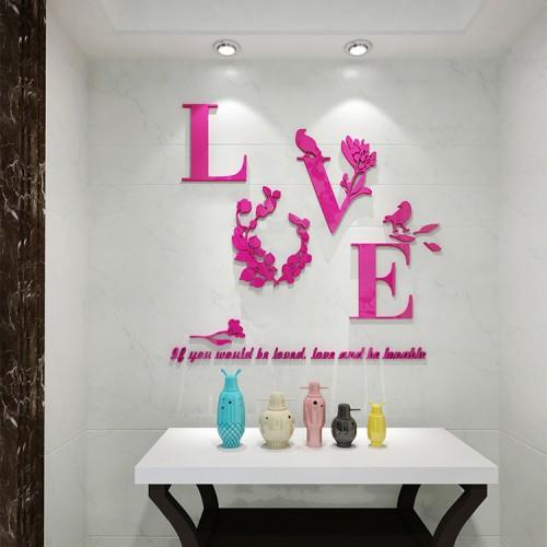 """Акриловая 3D наклейка """"Love"""" красная роза  в  Интернет-магазин Zelenaya Vorona™ 1"""