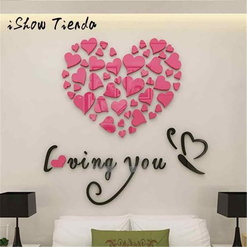 """Акриловая 3D наклейка """"Loving You"""" розовый 60х60см  в  Интернет-магазин Zelenaya Vorona™ 1"""
