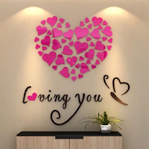 """Покупка  Акриловая 3D наклейка """"Loving You"""" красная роза 60х60см в  Интернет-магазин Zelenaya Vorona™"""