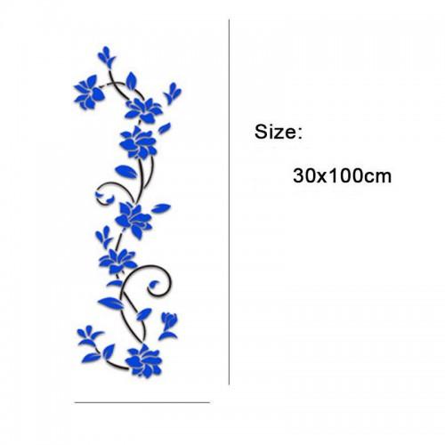 """Акриловая 3D наклейка """"Liana"""" темно-синий  в  Интернет-магазин Zelenaya Vorona™ 4"""
