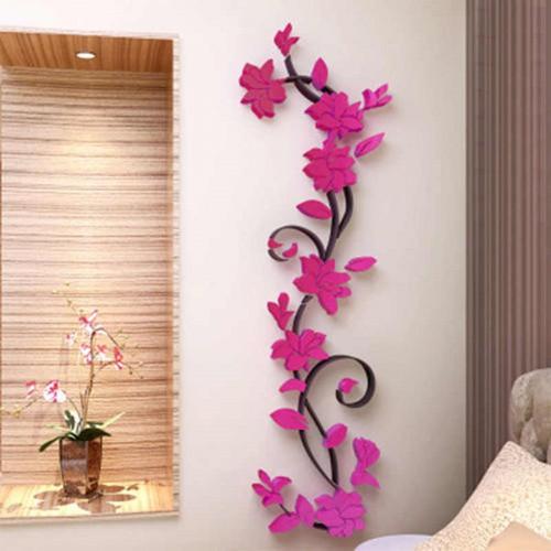 """Покупка  Акриловая 3D наклейка """"Liana"""" красная роза в  Интернет-магазин Zelenaya Vorona™"""