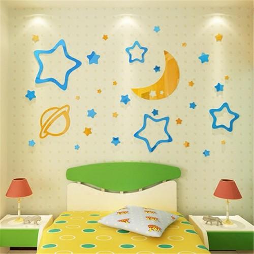 Покупка  Акриловая 3D наклейка в детскую Moon Star в  Интернет-магазин Zelenaya Vorona™