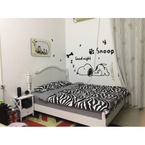Акриловая 3D наклейка в детскую Snoopy. Черный  в  Интернет-магазин Zelenaya Vorona™ 1