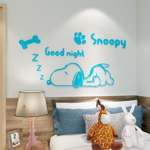 Покупка  Акриловая 3D наклейка в детскую Snoopy. Светло-голубой в  Интернет-магазин Zelenaya Vorona™