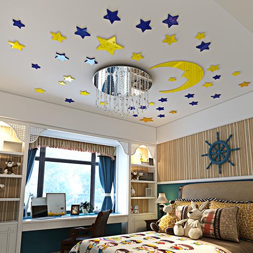 Акриловая 3D наклейка в детскую Луна и звезды  в  Интернет-магазин Zelenaya Vorona™ 1