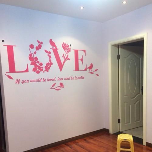"""Акриловая 3D наклейка """"Love"""" красный  в  Интернет-магазин Zelenaya Vorona™ 4"""