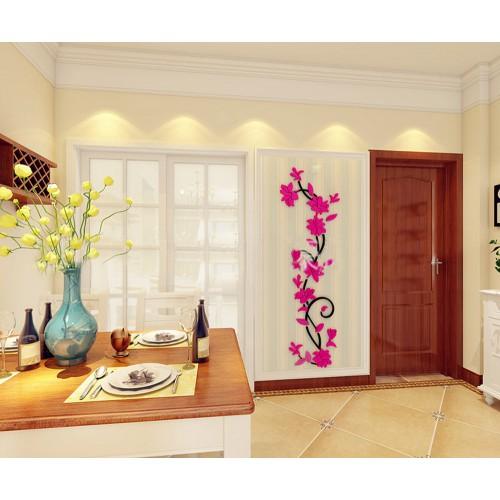"""Акриловая 3D наклейка """"Liana"""" красная роза  в  Интернет-магазин Zelenaya Vorona™ 1"""
