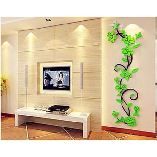 """Акриловая 3D наклейка """"Liana"""" светло-зеленый  в  Интернет-магазин Zelenaya Vorona™ 1"""