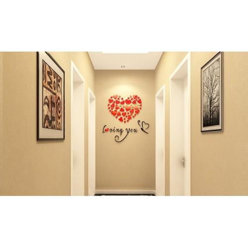 """Акриловая 3D наклейка """"Loving You"""" красный 40х40см  в  Интернет-магазин Zelenaya Vorona 2"""