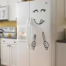 Наклейка на холодильник Приятного аппетита!