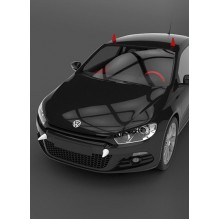 3D наклейка на авто. Рога Дьявола