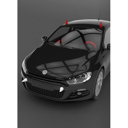 3D наклейка на авто. Рога Дьявола  в  Интернет-магазин Zelenaya Vorona™ 3