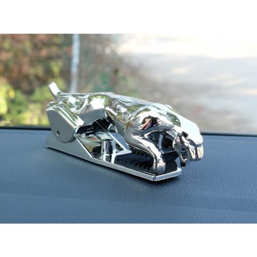 Держатель для телефона в автомобиль Леопард. Серебро  в  Интернет-магазин Zelenaya Vorona™ 3